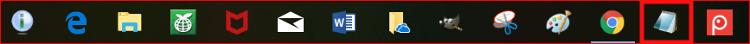WIN10タスクバー