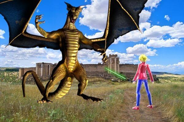 ドラゴン対ライトサーベル