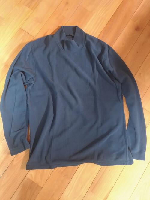 ヒートテックストレッチフリースモックネックT(長袖)Blue