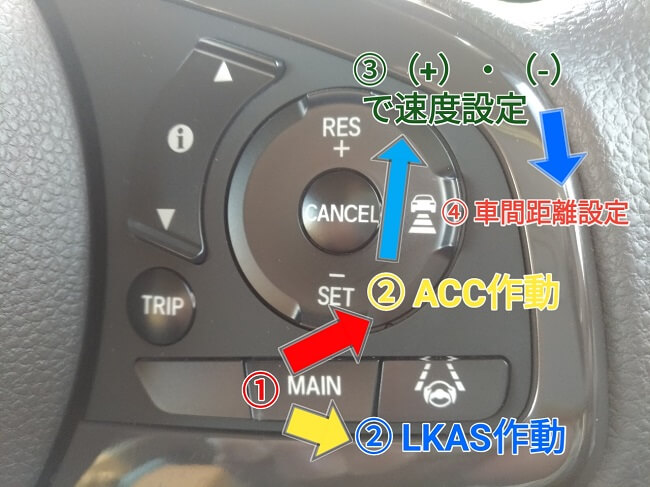 ACCとLKAS設定方法