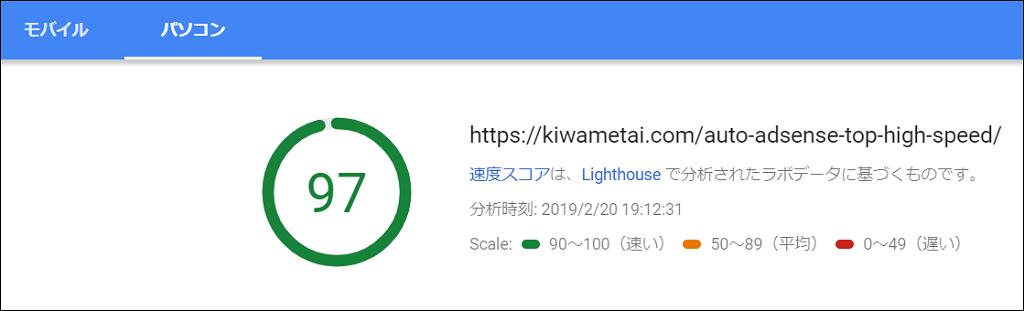 ページスピード(PC)