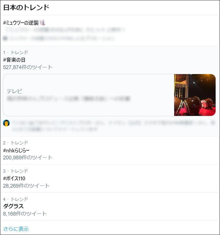 #話題を検索(日本のトレンド)