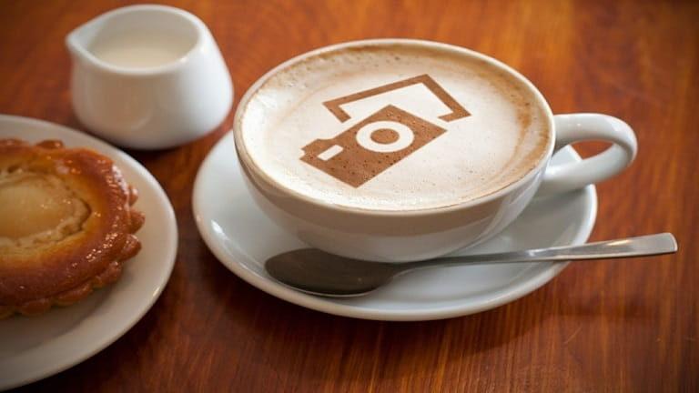 コーヒーにオシャレな演出
