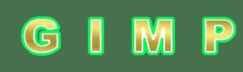 グラデーション縁取り白緑(ゴールド)