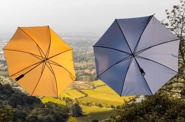 傘二つ背景変更