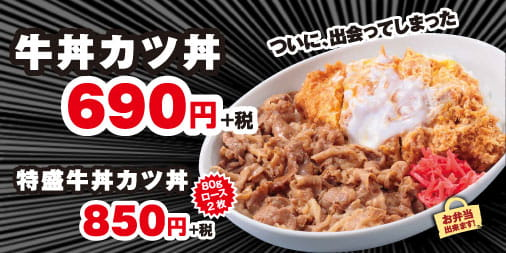 牛丼カツ丼