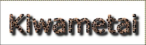ヒョウ柄ロゴ