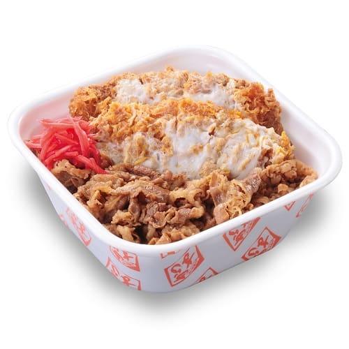 特盛牛丼カツ丼弁当(80gロース2枚使用)850円+税