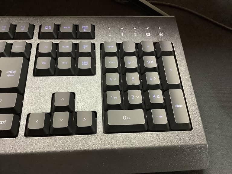 キーボード右側