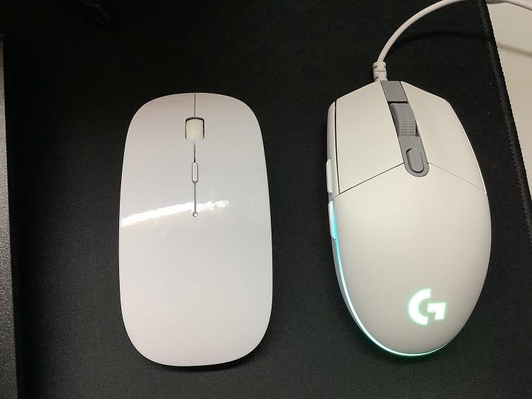 以前のマウスと比較