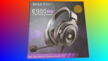 EKSAのE900Pro(ゲーミングヘッドセット)7.1chバーチャルサラウンドサウンド対応でコスパ良し!?