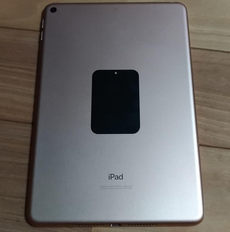 iPad mini5にプレート取り付け