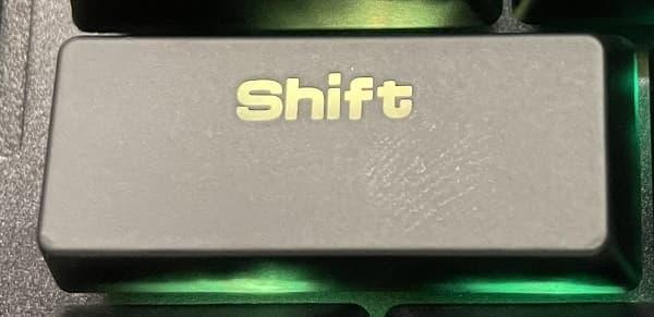 shiftキー左